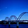江戸川の夜景 市川市の風景