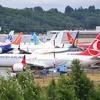 737MAXの運航停止に伴い従業員駐車場が駐機場になっているシアトル・ボーイングフィールドなう。