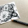 【Zentangle】お花のようなゼンタングル