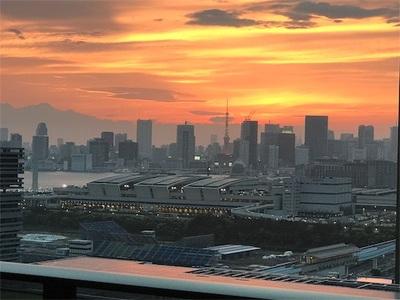 豊洲ぐるり公園ランニング〜青いレインボーブリッジと赤い東京タワー〜