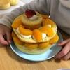 三段ケーキをつくる5歳🎂
