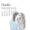 イラスト・カレンダー【10月】