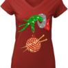 Lovely Glitter Grinch monogram ornament Knitting ugly sweater