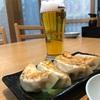 茅場町ショウショウ焼餃子で瓶ビール!!肉と野菜の甘味と旨味たっぷりの餃子そして特製炒飯の色と辛味がグレイトな夜!!
