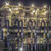 夜に光る鉄のキノコ 日鉄日新製鋼 呉製鉄所のプラントの一部