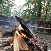 台風の中、焚き火してきた。火はなんでも教えてくれるって教えてくれた。