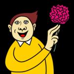薔薇を手にする人 のイラスト