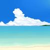 ~背景~ 夏の浜辺 完成