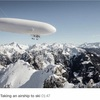 Who needs a ski lift when you can use a Zeppelin ?