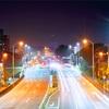 深夜の国道11号線の風景