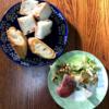 簡単な朝食じかん・「考えた人すごいわ」レーズンパン・野菜サラダ【小さな幸せのひととき】#07