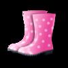 雨の日の長靴をプレゼントに貰いました