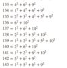 128より大きい任意の整数は相異なる平方数の和として表すことができる。