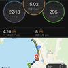 諏訪湖でペース走5キロ