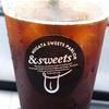 新潟市古町「&sweets(アンドスイーツ)」アイスコーヒーが飲みたくて立ち寄ったお店( ̄▽ ̄)ロゴの遊び心が良い感じ!