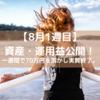 32歳 高卒 会社員 1年で資産1000万円を目指す!(21年8月1週目)