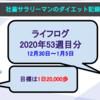 【サラリーマンのダイエット記録】12月30日〜2021年1月5日分【ライフログ2020年最終】