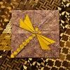 恐竜柄の折り紙で「トンボの化石」 〜Abrahamさんの折り図テスト〜