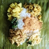 南インドのバナナ葉包み弁当 ポティチョル