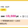 【ハピタス】楽天カードが10,500pt(10,500円)にアップ! 更に今なら8,000円相当のポイントプレゼントも!!