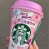 北京セブンイレブンで新発売★スタバの桜フレーバーラテと、おいしいのか!?タピオカミルクティーアイス