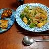 幸運な病のレシピ( 2241 )昼 :ビーフン炒め八宝菜風(昨日のあまり唐揚げ等入り)