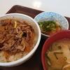 【すきや】でおろしポン酢牛丼ととん汁とすきすきセットのとりそぼろ丼