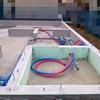 着工30日目:給排水管が設置された