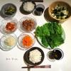 クリスマスに作ったもの②/韓国風焼肉とナムルのサンチュ巻き