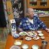 幸運な病のレシピ( 269 )夜:サンマ一夜干し、イカ煮つけ、マダラ子の糸コン煮、汁