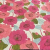 1:ピンクのお花柄★バニランワンピース作るよ♪