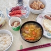 目玉焼き納豆定食(実家)