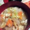 作ってみた 10/14 ホマレ姉さんの「根菜たっぷり汁」(芋煮汁)