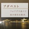 【ブダペスト】フォアグラ食べて夜の街をお散歩。2018.10.21
