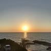 日本海に沈む夕陽と演歌はベストマッチ!心にしみわたりました~🎵 【 中間検査の準備&ちょいフィッシング 】