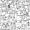 『絵本を作るDay15』森のモンスター