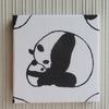 好きなサイズで・・パンダのファブリックパネルの作り方