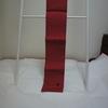 【半幅帯/半巾帯】猫のワンポイント付き!お出掛け用に買った真っ赤な麻の浴衣帯
