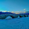 上士幌町 糠平湖にてタウシュベツ橋梁とアイスバブル【1月7日撮影】