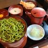 【寿庵@川越】蔵の街で食べる緑が鮮やかな「抹茶そば」を「割子そば」で楽しむ