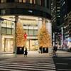 クリスマスツリー2020①:三越新館入口のツリーはシンプルなようで実は・・・