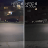 【GoPro HERO6】夜間撮影での実力は明らかに良くなっている!HERO5と比較