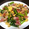 【今日のごはん】小松菜ベーコンと卵のマヨネーズ炒め!