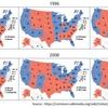 アメリカ大統領選 : 民主党と共和党の塗り絵はどうなるか?