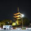 夜の東寺五重の塔を