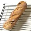 小麦胚芽クランベリーパン、トマトオムレツとキュウリコーン炒めとキャベツスープ