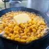 キャンプ男子メシ部(晩ご飯)お手軽にこの美味さは反則です!スキレットでコーンバター。