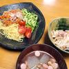 8/1の晩ご飯:野菜たっぷり和風ジャージャー麺