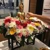 タイのお正月ソンクラーンには仏像に水を捧げる