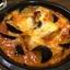 7月22日【昼のソト飲み】ビヤレストラン ミュンヘン、プリプリ海老のフリッター インディアンソース、茄子とエリンギのトマトチーズオーブン焼。